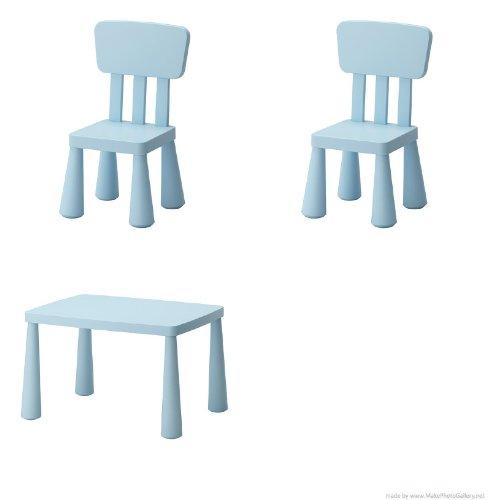 Ikea Kinderstuhl Mammut Kindermobel Stuhl In Kraftigem Blau