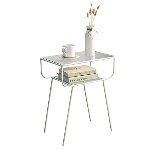 Nordic Fer Forgé Moderne Table Basse Créative Salon Simple Canapé Table D'appoint Table De Chevet Petite Table D'appoint (Couleur : Blanc)