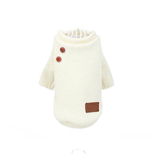 LDFN Beine Hund Kleidung Hund Kleidung Haustierkleidung Pullover Gemütlich Herbst Und Winter Kleidung,Beige-XL (Anspruchsvolle Katze Kostüm)