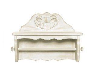 Portascottex in legno stile vintage con fiocco centrale disonibile in diverse rifiniture L'ARTE DI NACCHI 7395F/PV