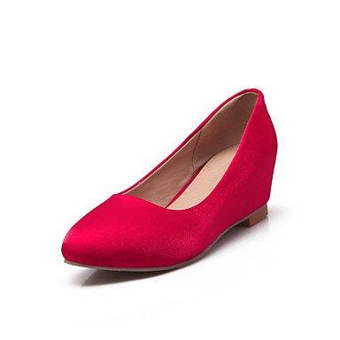 CH&TOU Da donna-Tacchi-Ufficio e lavoro Formale Casual-Comoda-Piatto-Seta-Nero Blu Rosso Beige beige