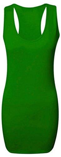 NEUF FEMMES LONG DOS NAGEUR MOULANT DÉBARDEUR DOS NAGEUR HAUT FEMMES TAILLE 36-54 EU Vert - Vert jade