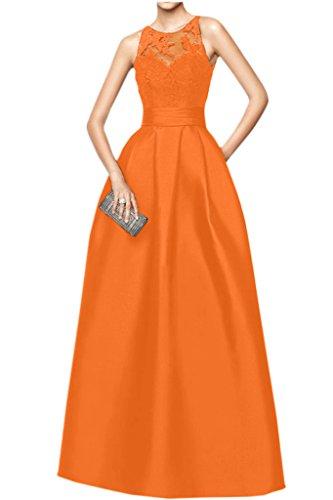 Victory Bridal Hochwertig Schwarz Spitze Brautmutterkleider Abendkleider Festlichekleider Partykleid Orange