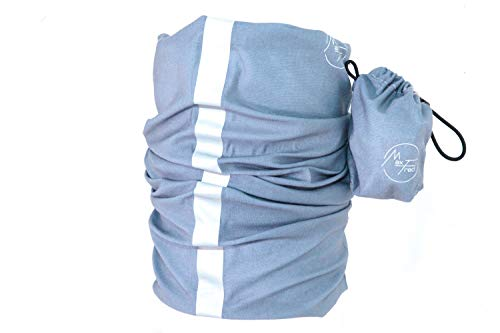 Max&Fred - Adulte Multifonctionnel Chapeaux Matt Blue, Shine Basic - Line, avec 2 bandes réfléchissantes
