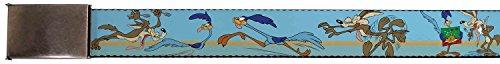 Looney Tunes Cartoon TV Series Wile E.'s Chase Web Belt Chrome