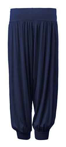 Fast Fashion - De Taille Plus Plaine Pantalons Pleine Longueur De Harem - Femmes Bleu Marine