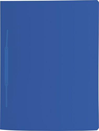 Brunnen 102015630 Schnellhefter (A4, mit je einem Einsteckfach vorne und hinten, mit Amtsheftung, aus PP) blau