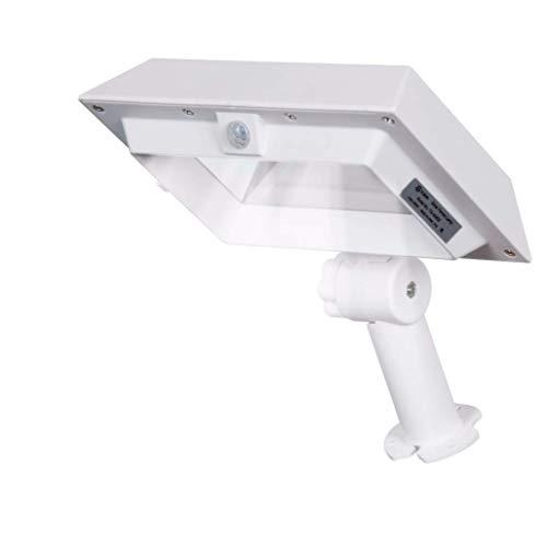 Solar canalón luz de pared lámpara PIR Sensor de movimiento 300 lumen impermeable luz de seguridad inalámbrica con soporte 30 LED adecuado para jardín al aire libre, valla, garaje,White,Whitelight