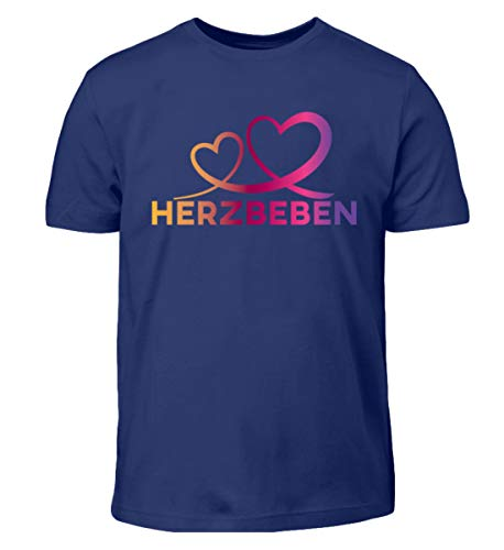 Herzbeben - Bunte Herzen - Liebe Helene - Kinder T-Shirt -9/11 (134/146)-Indigo