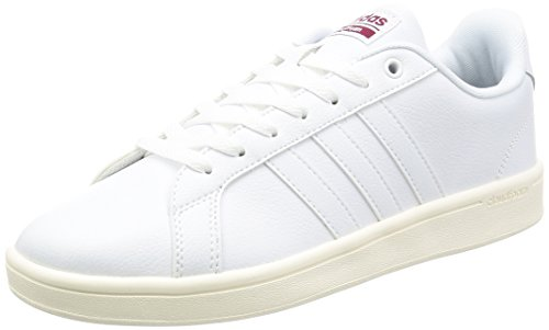 adidas Cloudfoam Advantage, chaussure de sport homme Blanc (Ftwwht/ftwwht/cburgu)