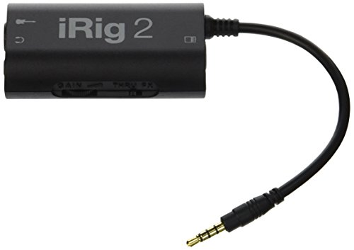 iRig IP-IRIG2 - Interfaz de guitarra (entrada 1/4', AmpliTube), color negro