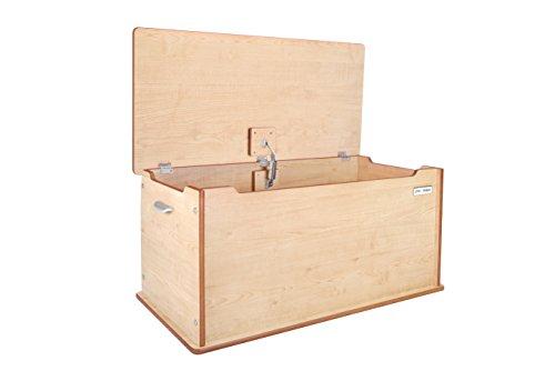 Little Helper CP-TTY01-1DE Große Aufbewahrungstruhe aus Holz Room Tidy, natur - Cp-holz