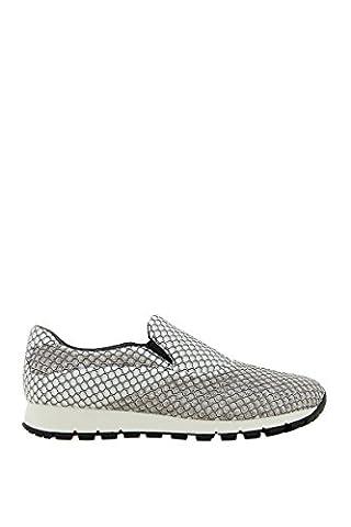 Prada Damen 3S61501o7kf0009 Weiss Stoff Slip On Sneakers (Prada Stoff)