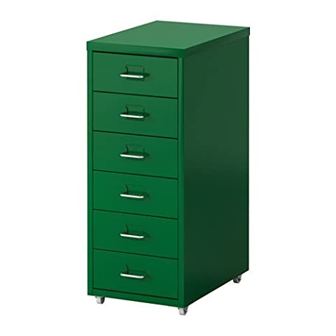 IKEA HELMER Schubladenelement auf Rollen; in grün