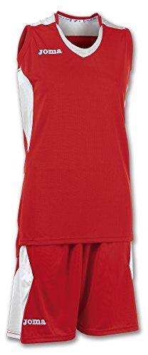 Joma Set Space Woman Basketball Set rot-weiß Damen rot-weiß, M (38)