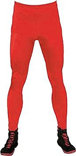 Life Clothing Co. rot Wrestling Legging Kostüm Tights (Wrestling Kostüme Adult)