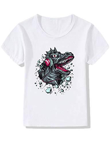 YZHEN Jungen/Mädchen Dinosaurier kurzen Ärmeln T-Shirts Kind Cartoon T-Shirt Baby Baumwolle (Fünf Nächte Bei Freddys Kostüm Für Kinder)