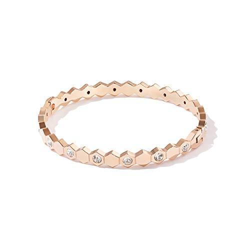 Braccialetti d'acciaio di titanio braccialetti semplici della coppia delle ragazze monili popolari della mano dell'acciaio di titanio dell'acciaio inossidabile 316l dei monili della rosa preziosa