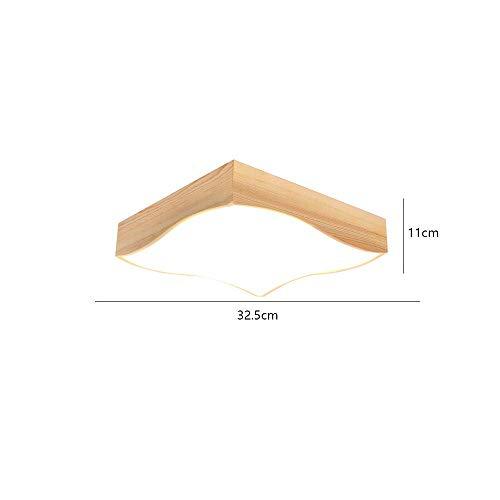 PLLP Luz de techo del dormitorio de la casa, lámpara de techo de madera maciza nórdica con luz led Lámpara de estudio de estilo japonés, lámpara de estudio Ikea Lámpara de madera de dormitorio creati