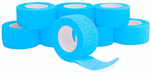 Fingerverband, Fingerpflaster, Selbsthaftende Fingerbandagen 2,5 cm, türkisblau - 8 Stück...