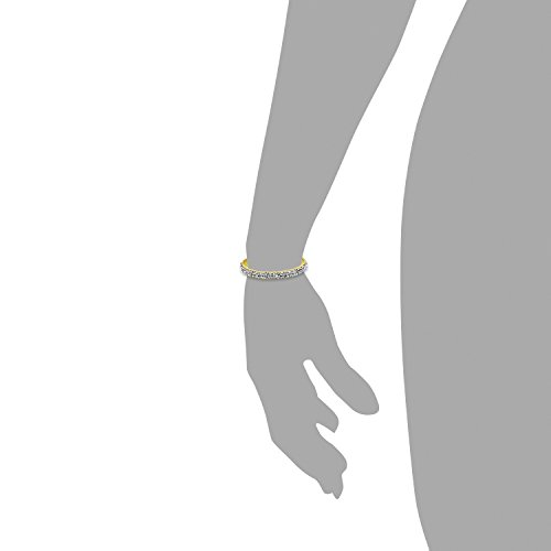 s.Oliver Damen-Armband Let\'s Celebrate Swarovski Rocks Edelstahl Leder Kristall silber 21 cm - 515948