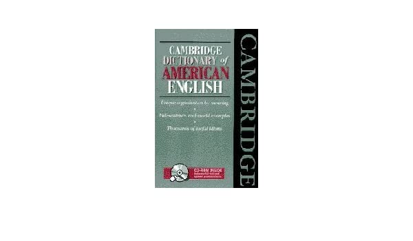 Cambridge Dictionary of American English Book and CD-ROM: Amazon co