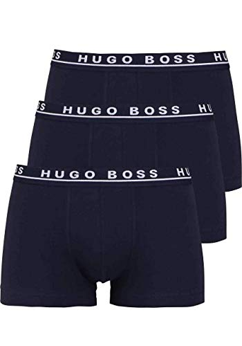 BOSS Hugo Boss Herren Boxershorts 3er Pack - Blau (Open Blue 480) , Large
