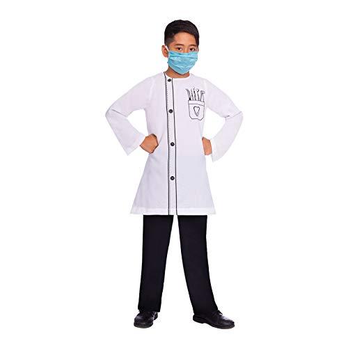 amscan Zahnarzt Kostüm-Set - Karneval Fasching Kostüm Kinder Unisex (Zahnarzt Kostüm Zubehör)