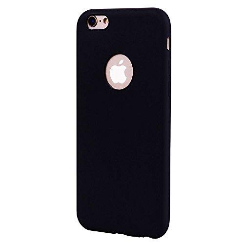 """Coque iPhone 6 / 6S (4.7""""), Solaxi Coque TPU Slim Bumper Etui pour Apple iPhone 6 / 6S (4.7 pouces) Souple Housse de Protection Flexible Soft Case Cas Couverture Anti Choc Mince Légère Doux Silicone C Noir"""