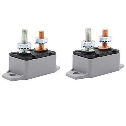 Homyl 2Pcs 25A Bateau Voiture Fusible Disjoncteur Automatique à Réinitialisation Automatique 12V / 24V