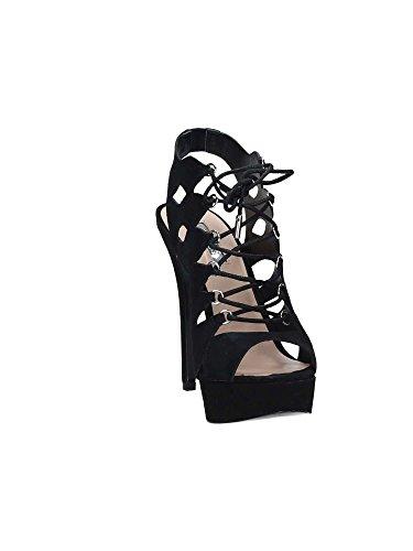 Guess Flkls1 Esu03 Sandales femmes Noir