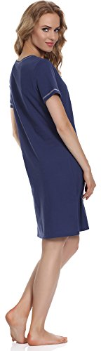 Italian Fashion IF Damen Nachthemd Raspberry 0114 Navy