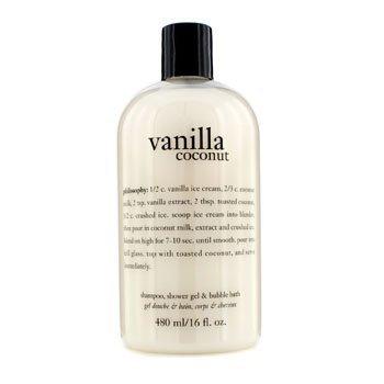 Philosophy Vanilla Coconut Shampoo, Shower Gel & Bubble Bath 480Ml/16Oz by Philosophy