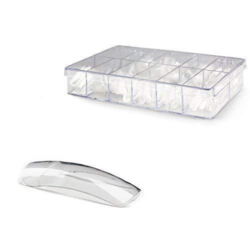 500 Pièces Conseils / Ongles Artificiels en Boite de Rangement - 2008 Crystal Tips