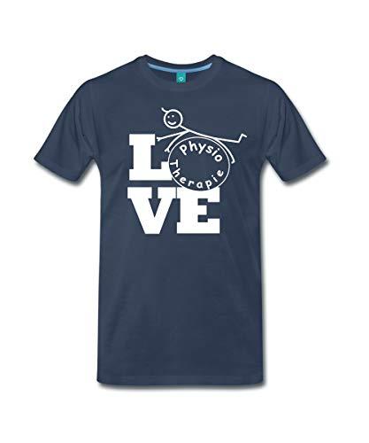 Spreadshirt Love Physiotherapie Männer Premium T-Shirt, XXL, Navy