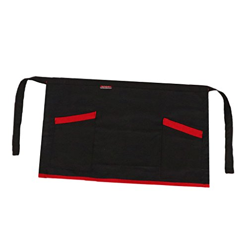 Homyl Baumwolle Schürze mit zwei Taschen Taillenschütze Kochschürze für Kellner/Kellnerin Komfortbale Schurze Uniform des Chefkochs - einfach zu tragen und reinigen (Tragen Uniform)