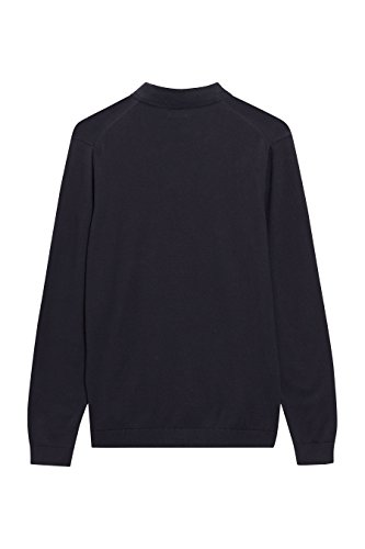 next Herren Langaermeliges Poloshirt Regular Marineblau