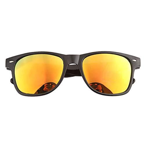 EUCoo Sonnenbrillen Mode MäNner Und Frauen Sonnenbrillen Im Freien Reiten Sonnenbrillen LäSsige Outdoor Schutzbrillen Fahren(rot)