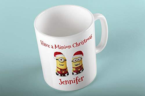 Minion Weihnachten D1Personalisierte Tasse für Tee Kaffee Heiße Schokolade Weihnachten Geschenk