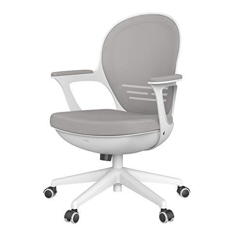 Hbada Schreibtischstuhl leicht Bürostuhl platzsparender Drehstuhl ergonomisches Design einteiliger Computerstuhl Grau