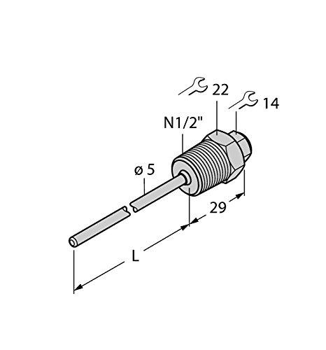 9910448-THW-3N1/2Détection de format A4L100, température Accessoires Tube de protection