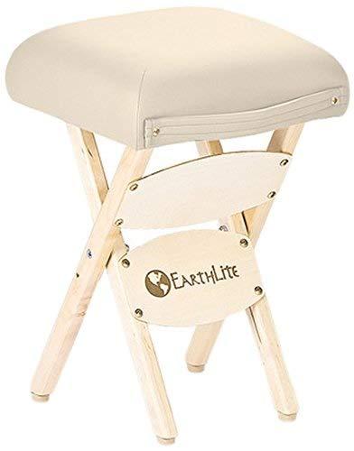 ZhuFengshop Klappstuhl Aus Holz - Hartholz Ahorn, FCKW-frei, Massagetisch Medical Spa Facial Salon Chair Hocker, Wohnzimmer (Color : Vanilla Creme)