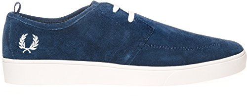 Fred Perry Shields Suede Charcoal Blue