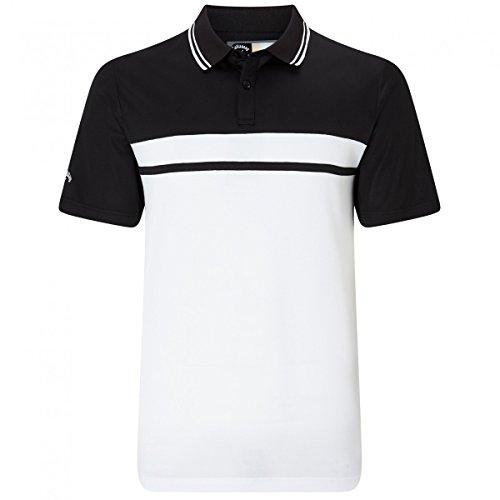 Callaway Golf Colour Blocked Pique Polo, Herren, Schwarz, L (Footjoy Golf-kleidung)