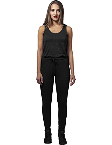 Urban Classics Damen Jumpsuit Ladies Melange, Schwarz Black 825, Large - 3