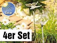 """Lunartec Solar-LED-Gartendeko """"Schmetterling"""", 4er-Set von Lunartec auf Lampenhans.de"""
