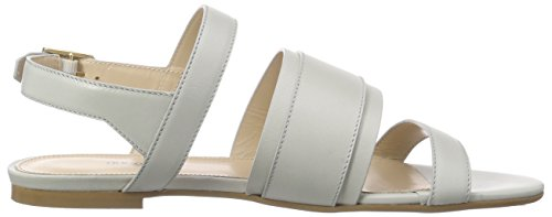 Hugo Plenn 10187689 01, Sandales  Bout ouvert femme Gris - Grau (medium grey 030)