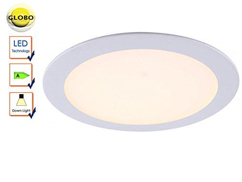led-18-watt-decken-einbau-strahler-dielen-panel-leuchte-weiss-glas-lampe-satiniert-globo-12353
