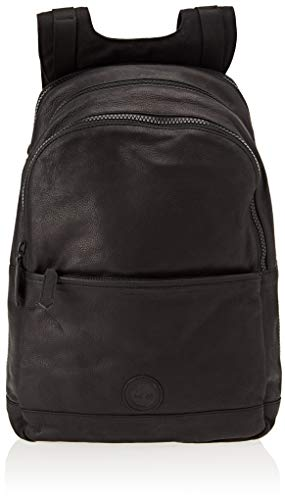 Timberland Zaino In Pelle  Men   s Backpack  Black  Jet Black
