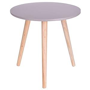 Finest Holz Grau X Cm Deko Tisch Klein Couchtisch Sofatisch Rund With  Gartentisch Klein Rund